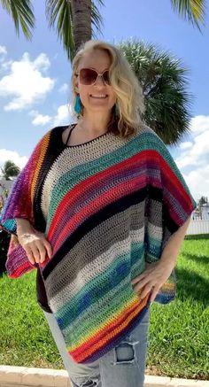 Crochet Hippie, Pull Crochet, Crochet Top, Cardigan Au Crochet, Crochet Poncho Patterns, Crochet Shawl, Style Bobo Chic, Crochet For Beginners Blanket, Boho Stil