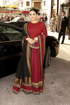 Vidya Balan at Cannes wearing Ethno Modern Lehenga Coming Very Soon .................. Panache Bollywood Inspired Clothing. www.panacheindia.com
