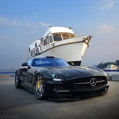 Ready for the next step? Photo shot by @omaralfehaid with @oar9.  #learninghowtoswim #MercedesBenz #SLSAMG #AMG #mbcar #MercedesAMG #sportscars #Gullwing #mblifestyle #cardesign #Yacht
