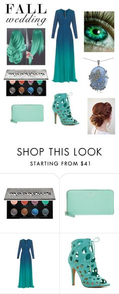 """""""Blue And Green"""" by rbugybug ❤ liked on Polyvore featuring Disney, Urban Decay, Kate Spade, Elie Saab, ALDO, Lord & Taylor and fallwedding"""