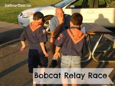 New Cub Scouts of all ages must earn their Bobcat rank advancement. Games make it fun to learn, and this Bobcat rank relay race is no exception. Cub Scout Oath, Cub Scouts Wolf, Tiger Scouts, Scout Leader, Boy Scouts, Cub Scout Games, Cub Scout Activities, Kid Activities, Relay Race Games