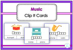 $ Music Clip It Cards