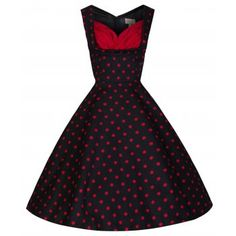 Ophelia Black Polka Swing Dress | Vintage Inspired Fashion - Lindy Bop