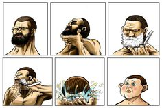 Consequences of shaving!