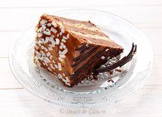 tort caramel imagine Creme Caramel, Food Cakes, Tiramisu, Cake Recipes, Sweets, Bun Bun, Ethnic Recipes, Pastries, Cakes