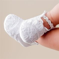 Baby Girl Booties - Lily Christening & Baptism Collection