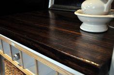 DIY wood countertop FAVORITE SO FAR