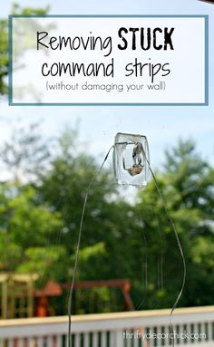 How to remove broken Command strips Command Hooks, Command Strips, Household Cleaning Tips, Cleaning Hacks, Cleaning Recipes, Cleaning Supplies, Thrifty Decor Chick, Home Organization Hacks, Organizing