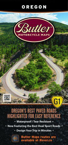 Butler Motorcycle Maps Washington G1 Map Best Paved and Dirt Roads in WA