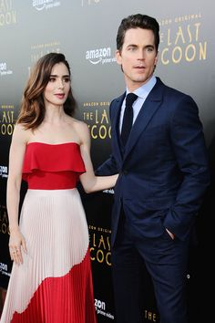 "Lily Collins and Matt Bomer Are Almost Too Beautiful to Judge at ""The Last Tycoon"" Los Angeles Screening 
