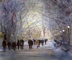 by John Salminen. Water color.