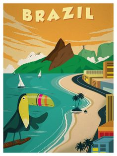 Brazil Travel poster by IdeaStorm Studios