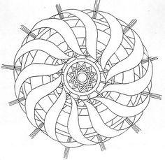 Zentangle Patterns, Mandala Pattern, Mandala Design, Pattern Art, Zentangles, Mandala Coloring Pages, Colouring Pages, Adult Coloring Pages, Coloring Books