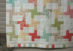 Cartwheel strip piecing quilt. (Uses the same color/neutral as the zig-zag. but must be careful to use dark colors to avoid accidental swastikas).