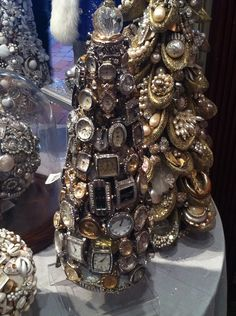 Amazing Christmas tree made out of antique watches