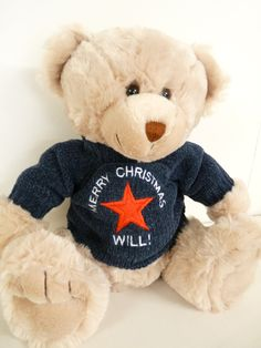 #Personalised teddy bear $72 #christening gifts