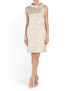 image of Jacquard Cocktail Dress