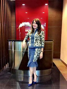 Batik Blazer, Blouse Batik, Batik Dress, Batik Kebaya, Kebaya Dress, Dress Pesta, Thai Fashion, Batik Fashion, Curvy Girl Outfits