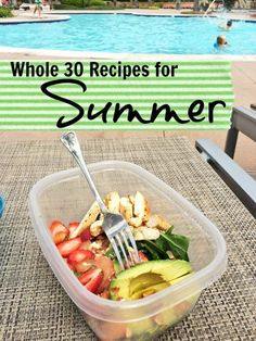 Clean Eating Diet - Need inspiration for your Whole 30 experience or just healthier eating in general? Try these Whole 30 recipes that are perfect for summer. Whole Foods, Whole 30 Diet, Paleo Whole 30, Whole 30 Menu, Whole 30 Lunch, Whole 30 Drinks, Healthy Choices, Healthy Life, Healthy Eating
