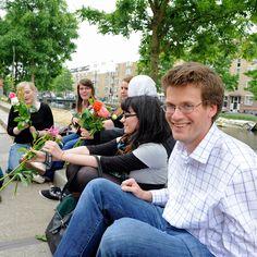 John Green and Nerdfighters in Westergasfabriek Park, Amsterdam | DFTBA
