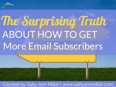 How to Get More Email Subscribers With a WOW Statement by Sally Miller via slideshare