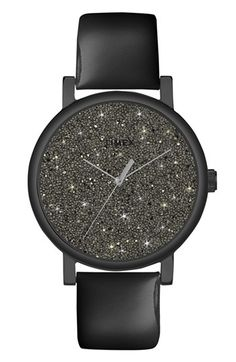 Timex® 'Crystal Sky' Pavé Dial Watch, 38mm | Nordstrom