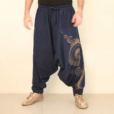 Baggy Aladdin Pants Sweatpants Balloon Pants in Dark Blue