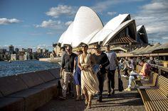 Elenco de Totalmente Demais no Opera Bar, localizado no Opera House, Sydney, Austrália  - Crédito Globo/Renato Rocha Miranda http://gshow.globo.com/