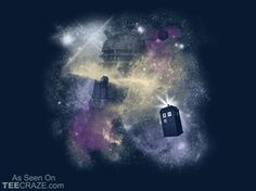 Through Time and Space T-Shirt Designed by arinesart    Source: http://teecraze.com/through-time-and-space-t-shirt/