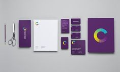 weandthecolor:    Successful Branding  Design studio Anagrama developed the identity design for Creavisa, a company specialized in POP items and display signs. Goal of the branding was to reflect the Creavisa's integrated services through the color variations of the logo. The purple background color represents the company's kindness and the differentiation from the competitors.  via: WE AND THE COLORFacebook // Twitter // Google+ // Pinterest