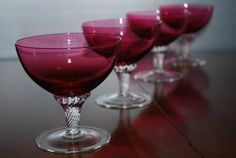 cranberry glass sherbets