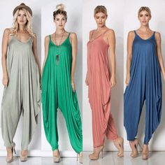 Discover thousands of images about Harem Boho Jumpsuit Boho Outfits, Fashion Outfits, Womens Fashion, Fashion Tips, Look Fashion, Fashion Design, Fashion Details, Jumpsuit Pattern, Jacket Pattern