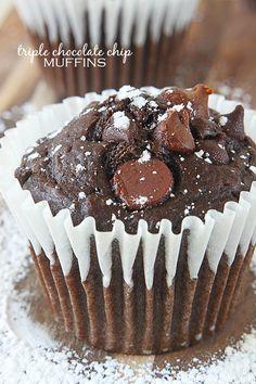 Triple Chocolate Chip Muffins | Creme de la Crumb http://lecremedelacrumb.com/2014/01/triple-chocolate-chip-muffins.html