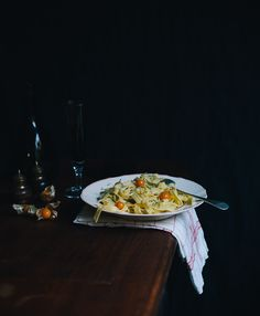 Creamy stilton tagliatelle with physalis by Marte Marie Forsberg