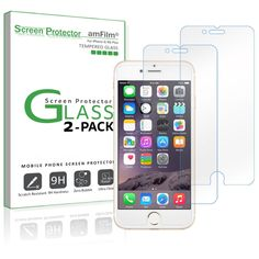 iPhone 7 Plus 6S/6 Plus Screen Protector, amFilm iPhone 7 Plus Tempered Glass 7 810357022217 | eBay