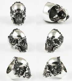 Rakuten: LegioMade (silver accessories / シルバーアクセ / silver / silver 925/Silver925/ silver / レギオメイド / ring / ring / men / Lady's / unisex / scull / skeleton / scull ring / skeleton /))- Shopping Japanese products from Japan