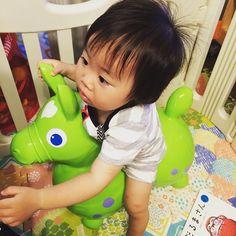 Instagram media yukiko_pic - 保育園でいつも乗ってるから買ってみたのに、嫌がる娘。 #1歳 #6月生まれ #ロディ