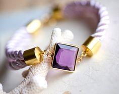 Beauty faceted Amethyst gemstone bracelet