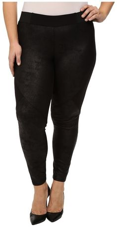 DKNY Jeans Plus Size Foil Coated Pieced Terry Leggings >>> Be sure to check out this awesome product.