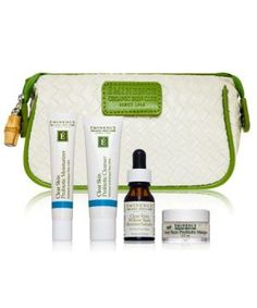 Eminence organics skin care set. A great price friendly way to get introduced to the product. Bonus: cute clutch to use.