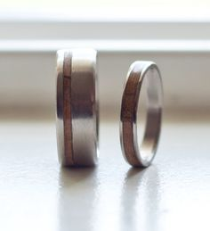 mens wedding band womens wedding band matching set wood inlay rings staghead designs