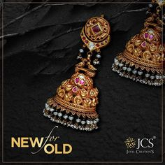 India Jewelry, Gold Jewelry, Jewellery, Gold Buttalu, Ear Rings, Studs, Jewelry Design, Indian, Jewels