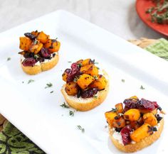 Butternut Squash, Cranberry, and Goat Cheese Crostini | 35 Next-Level Appetizers For Your Holiday Party