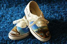 Unas de las mejores zapas que he tenido el placer de pintar, las Salvador Dalí, un placer para los ojos y los pies.