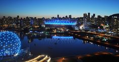 Estádio BC Place em Vancouver #viagem #canada #viajar