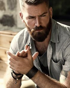 29 Awesome Beards Style You Can Try Now. Beards are all the rage nowadays. Hell, there's even a biological reason why men are fond of facial hair. Getting a beard is not tough, Beards And Mustaches, Moustaches, Hot Beards, Bald Men With Beards, Great Beards, Awesome Beards, Look Casual Hombre, Hipster Bart, Beard Neckline