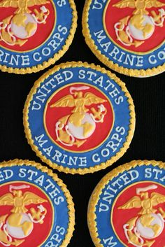 marine corps cupcakes alternating with bridal cupcakes?