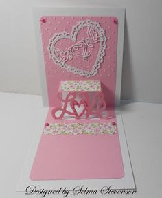 Selma's Stamping Corner and Floral Designs: Love Pop-up Card