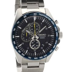 Seiko Chrono, Seiko Watches, Stainless Steel Bracelet, Stainless Steel Case, Audemars Piguet Watches, Authentic Watches, Watches For Men, Popular Watches, Sport