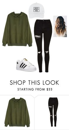 """Why Don't We hat"" by keefesencen ❤ liked on Polyvore featuring Topshop and adidas"